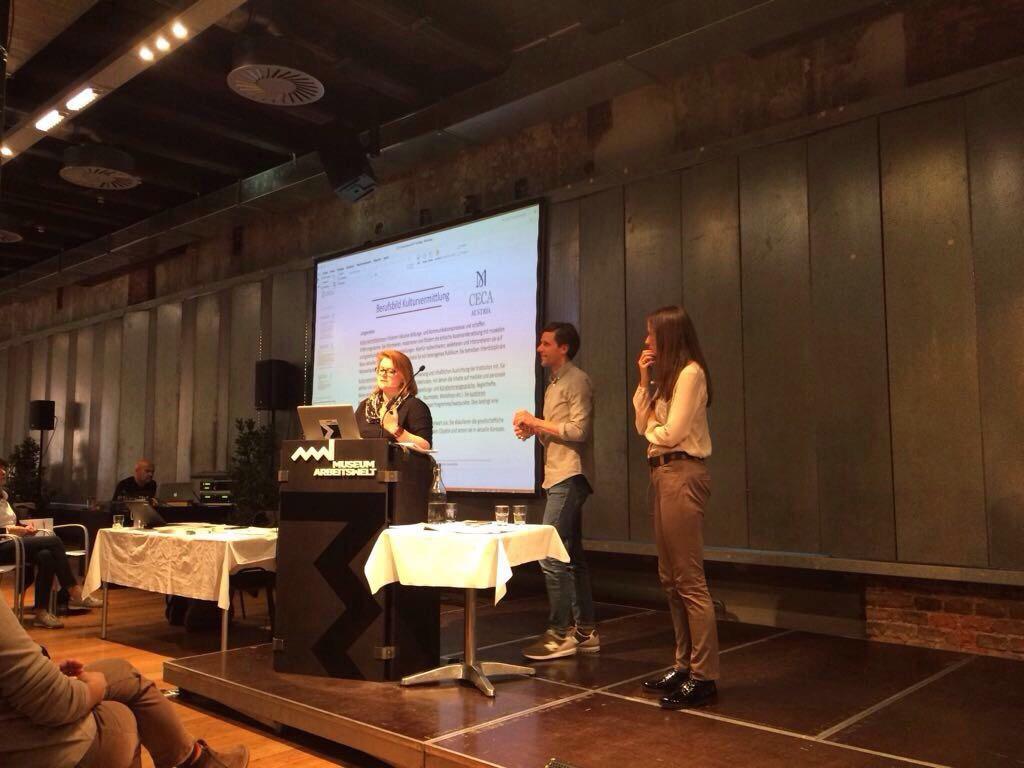 Bei der ICOM CECA Preconference (Wencke Maderbacher, Markus Rieser, Sandra Malez)